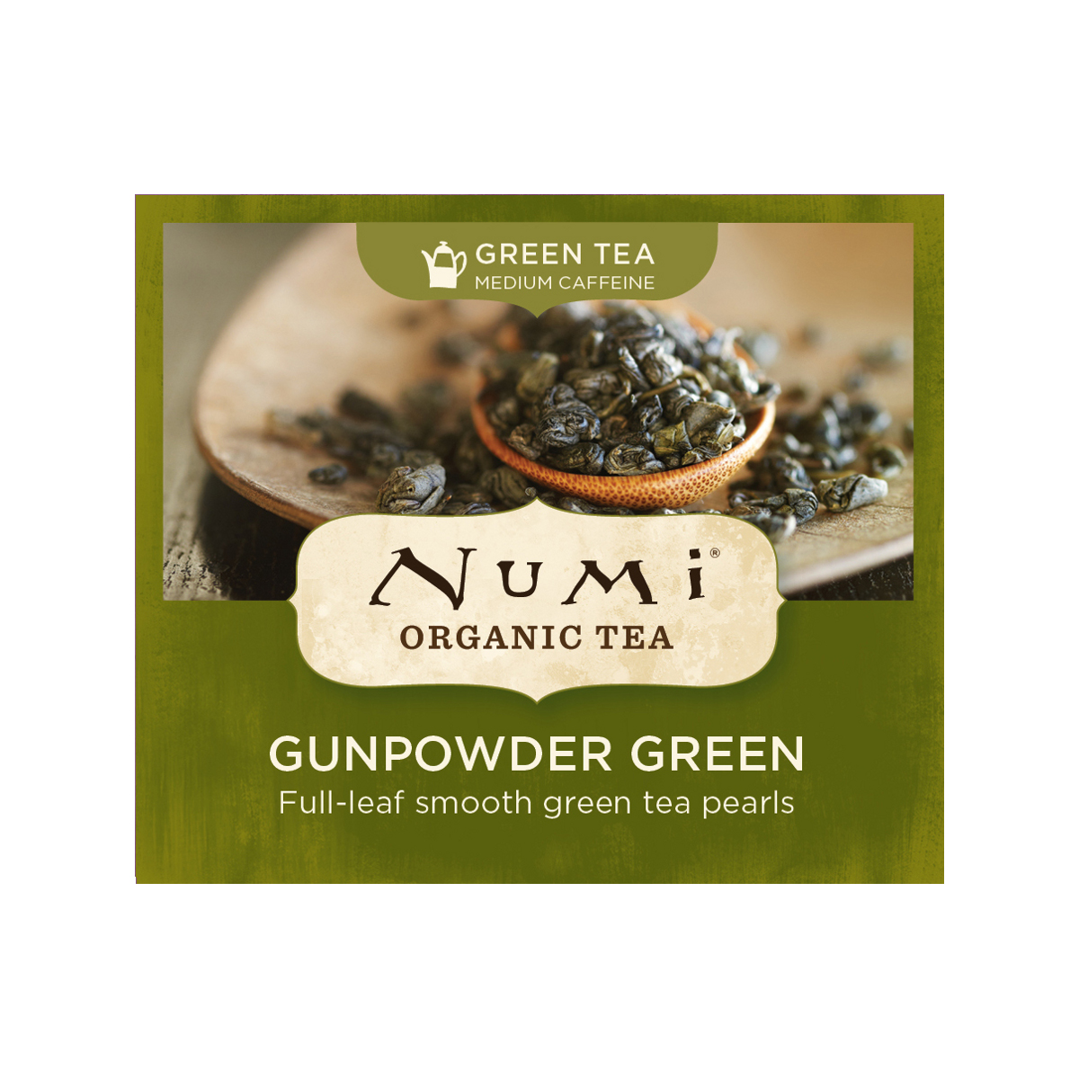 Numi Organic Tea Zelený čaj Gunpowder Green 2 g, 1 ks