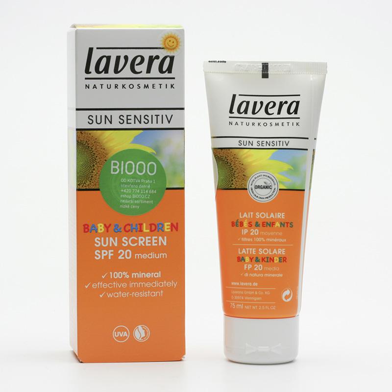 Lavera Mléko opalovací pro děti SPF 20, Sun Sensitive 75 ml