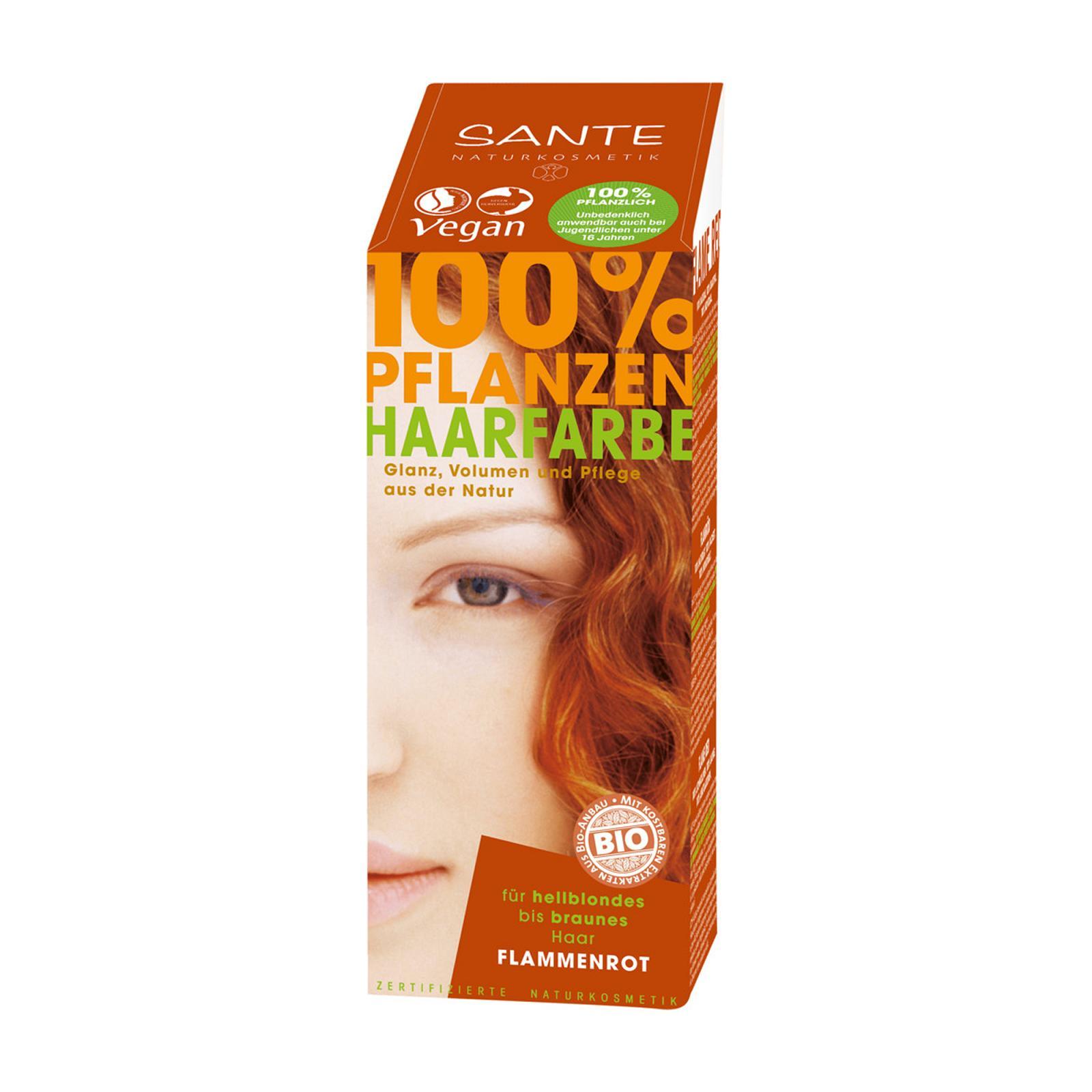 Santé Rostlinná barva na vlasy ohnivá červená 100 g