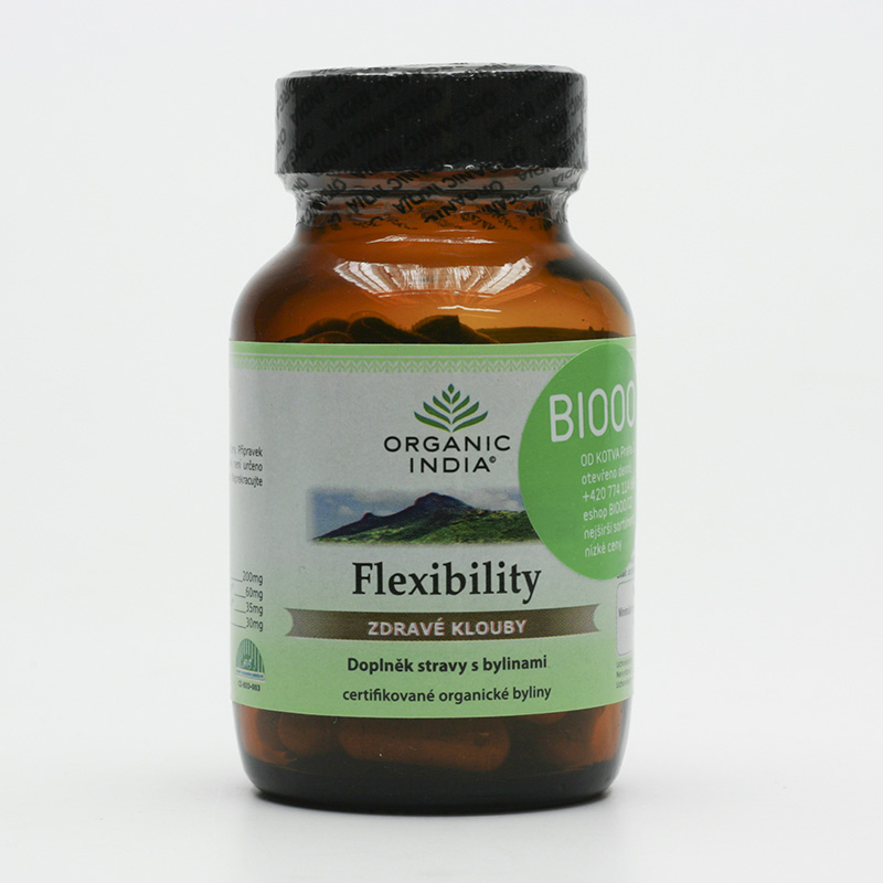 Organic India Flexibility, kapsle 60 ks