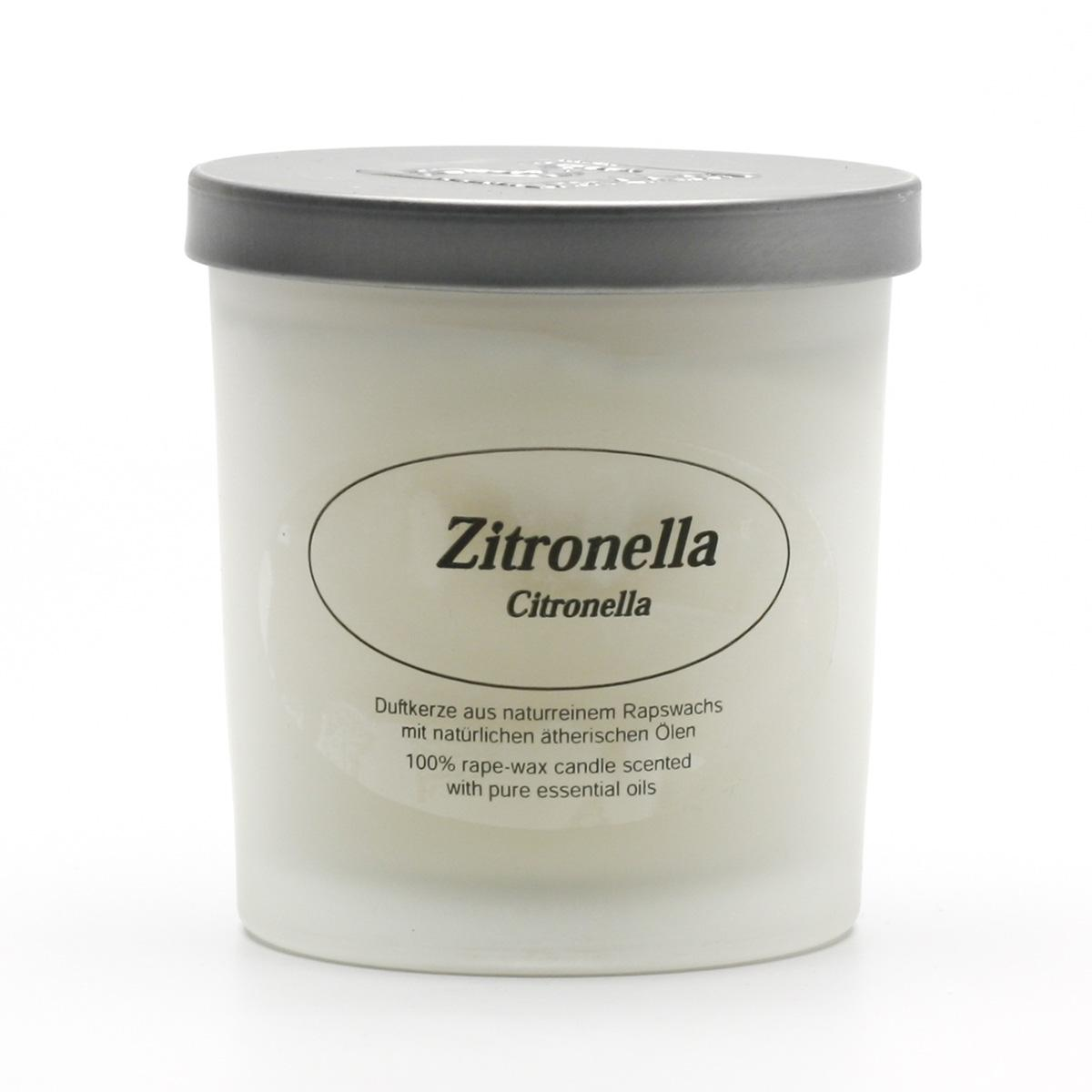 Kerzenfarm Přírodní svíčka Citronella, mléčné sklo 8 cm