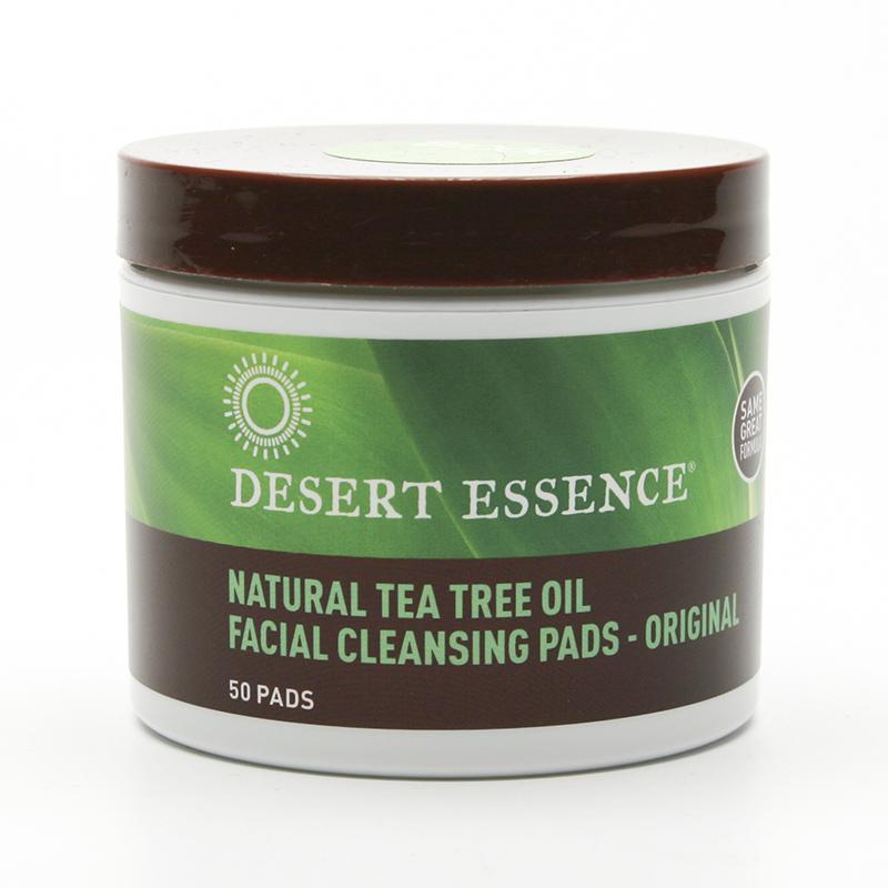 Desert Essence Odličovací tampony tea tree 50 ks