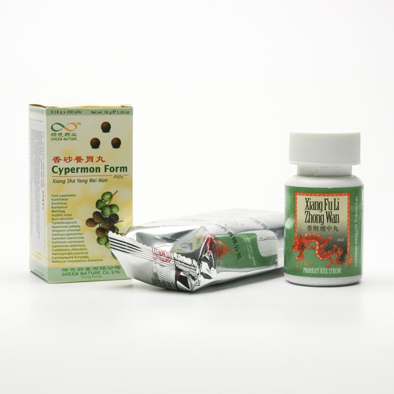 Lanzhou Pharmaceutical TCM formule 073 Xiang Liu Jun Zi Wan 192-200 kuliček, 33 g