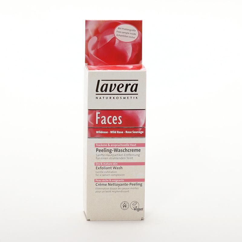 Lavera xxPeeling čistící divoká růže, Faces 30 ml
