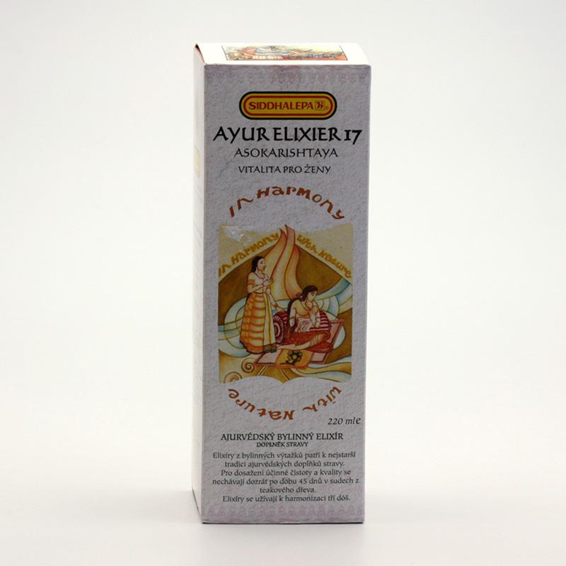 Siddhalepa Ayur elixír č. 17 Asokarishtaya 220 ml