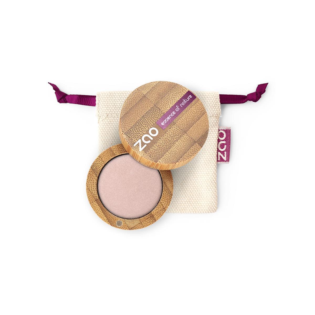 ZAO Třpytivé oční stíny 102 Pearly Pink Beige 3 g bambusový obal