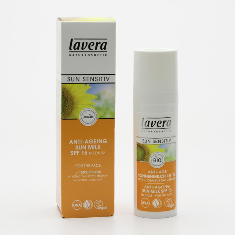 Lavera Mléko opalovací SPF 15, proti stárnutí, Sun Sensitive 30 ml