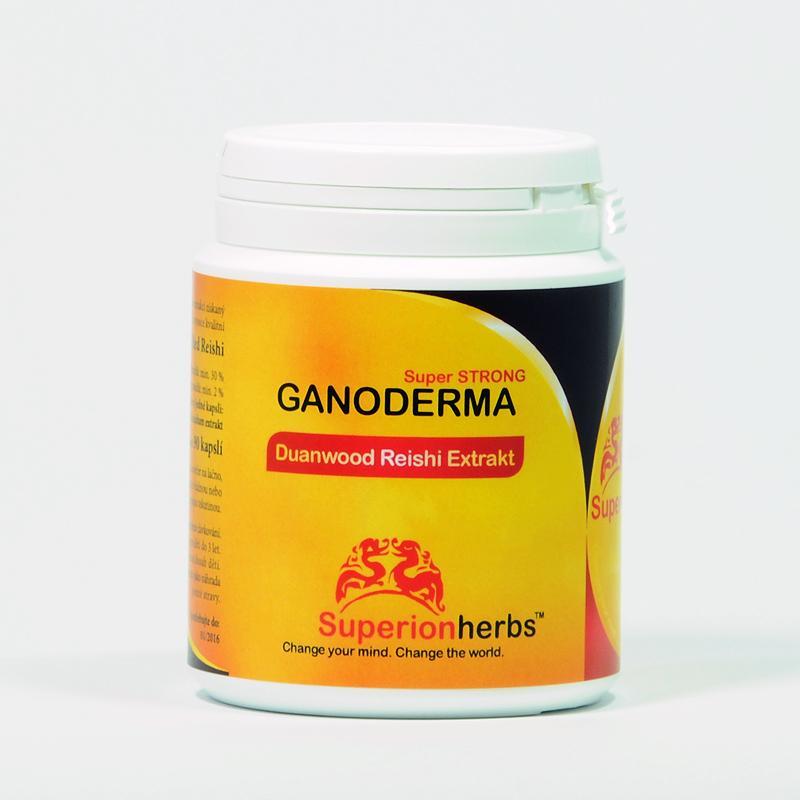 Superionherbs Ganoderma Reishi, Extrakt 4*90 kapslí