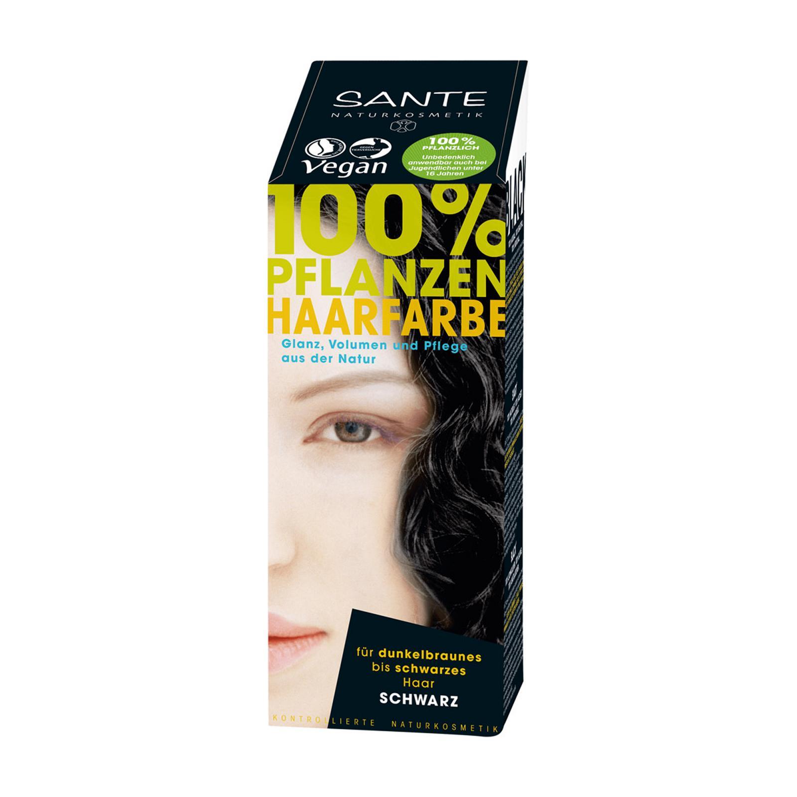 Santé Rostlinná barva na vlasy černá 100 g