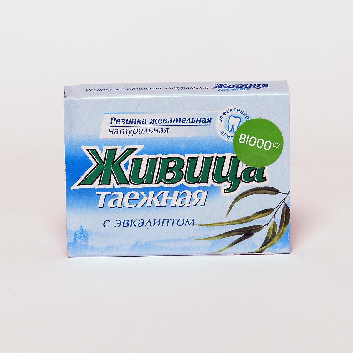 ostatní Sibiřská žvýkací pryskyřice s eukalyptem 5 tablet, 4 g