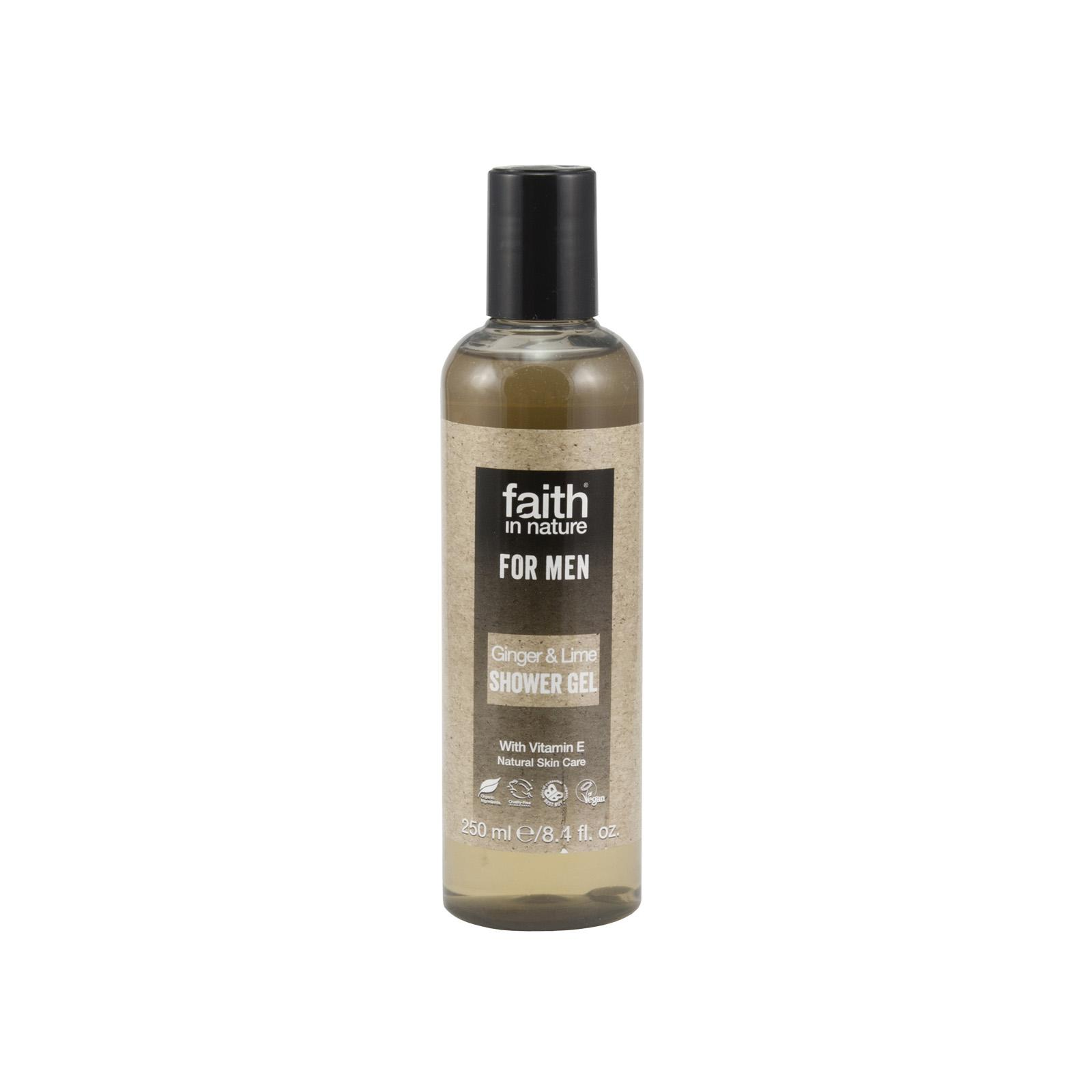 Faith in Nature Sprchový gel zázvor & limeta, Faith for men 250 ml