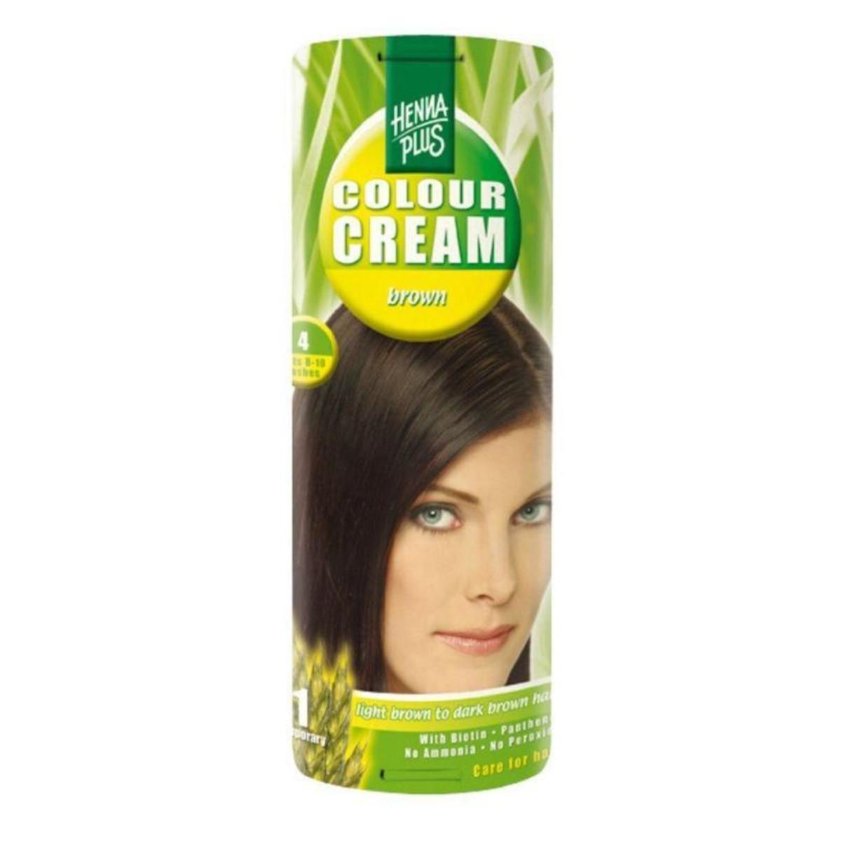 Henna Plus Krémový přeliv Hnědá 4 60 ml