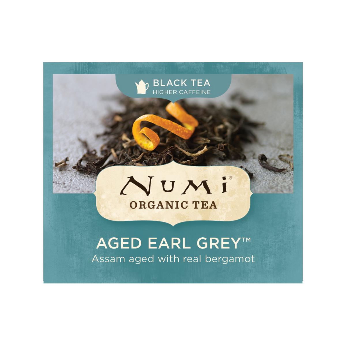 Numi Organic Tea Černý čaj Aged Earl Grey  2 g, 1 ks