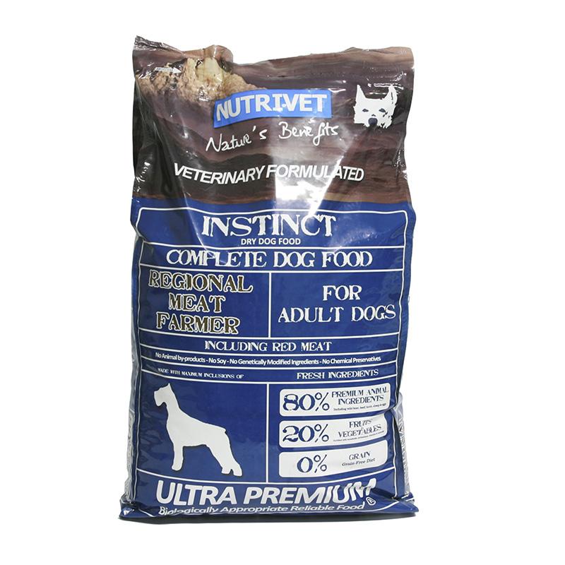 Nutrivet Krmivo pro psy Instinct Regional Meat Farmer, Nutrivet Ultra Pre 12 kg, psi od 2 let