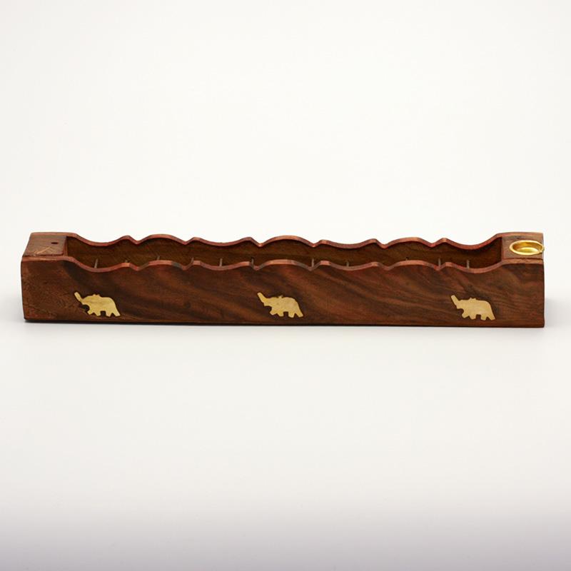 ostatní Stojánek dřevěný na indické tyčinky a kadidla 1 ks