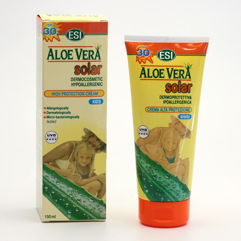 ESI Krém na opalování SPF 30 Aloe vera, Aloe Solar 150 ml