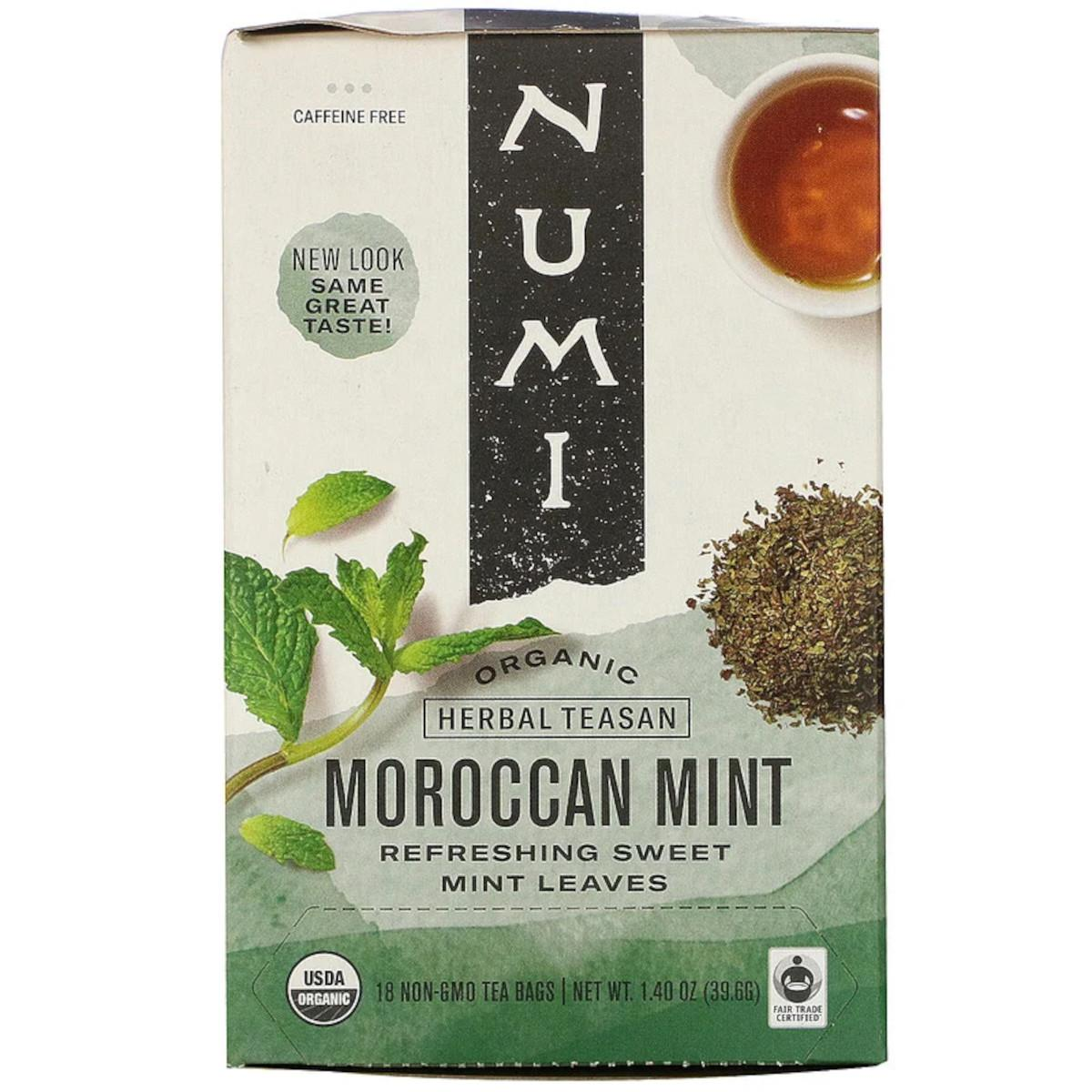 Numi Organic Tea Bylinný čaj Moroccan Mint 39,6 g, 18 ks