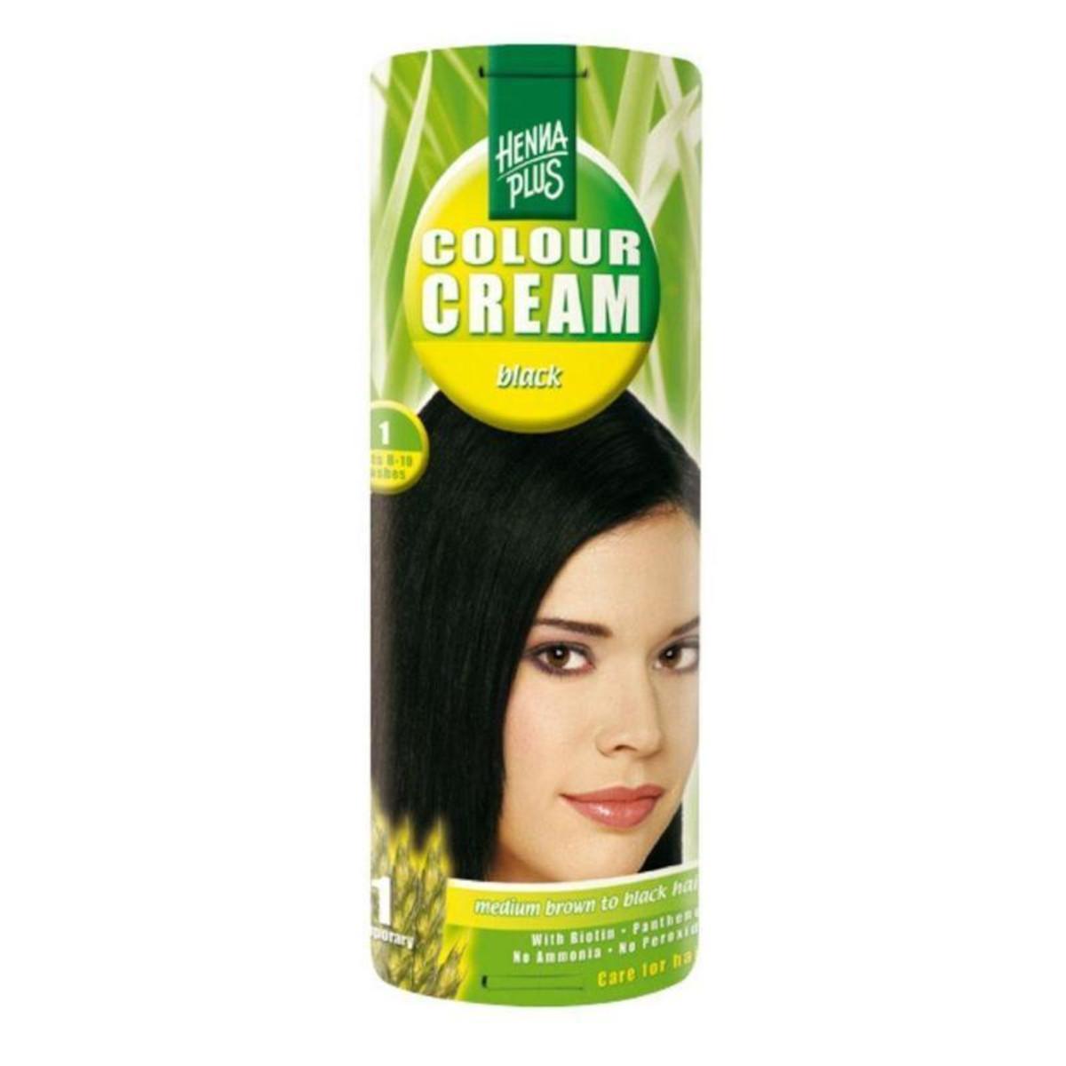 Henna Plus Krémový přeliv Černá 1 60 ml