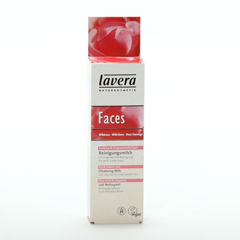 Lavera xxČistící pleťové mléko divoká růže, Faces 75 ml