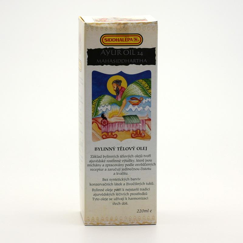 Siddhalepa Ayur bylinný tělový olej č. 24 Mahasiddhartha 220 ml