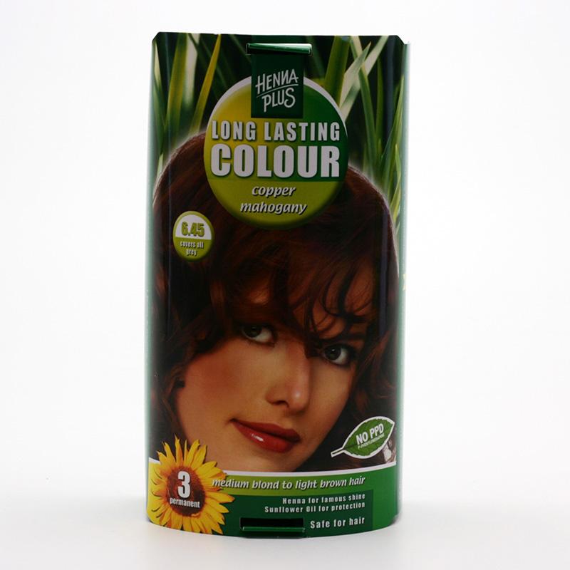Henna Plus Dlouhotrvající barva Měděný mahagon 6.45 100 ml