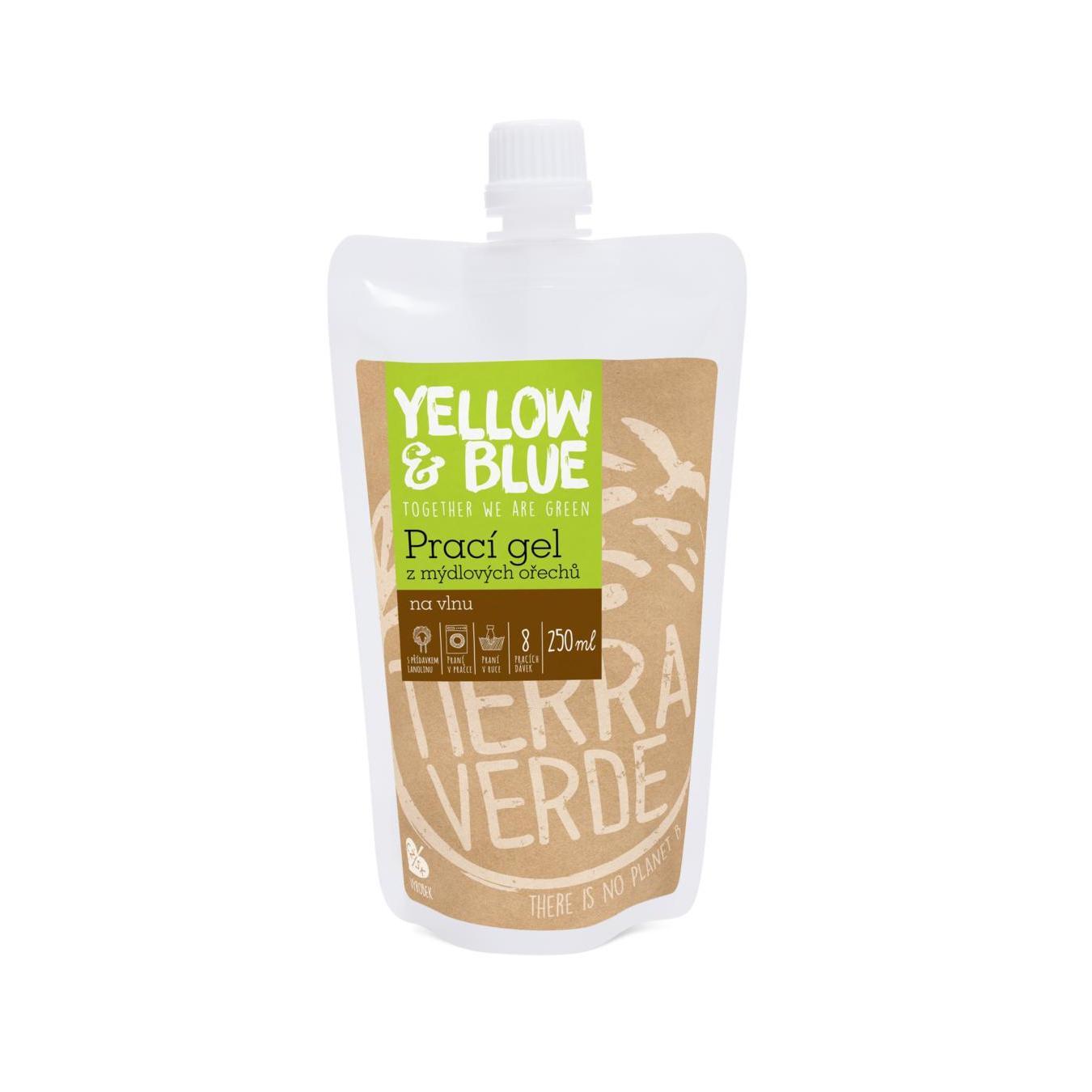 Yellow and Blue Prací gel z ořechů na vlnu 250 ml