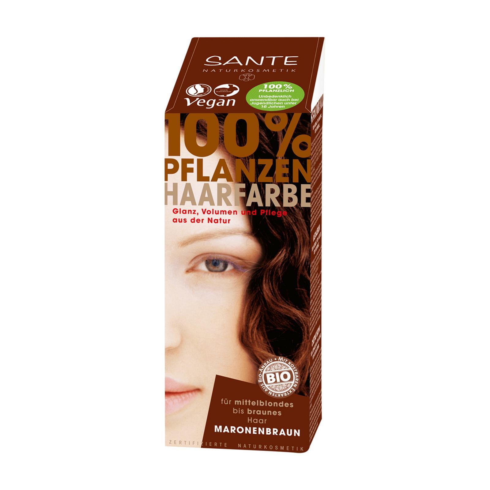 SANTE Rostlinná barva na vlasy kaštanově hnědá 100 g