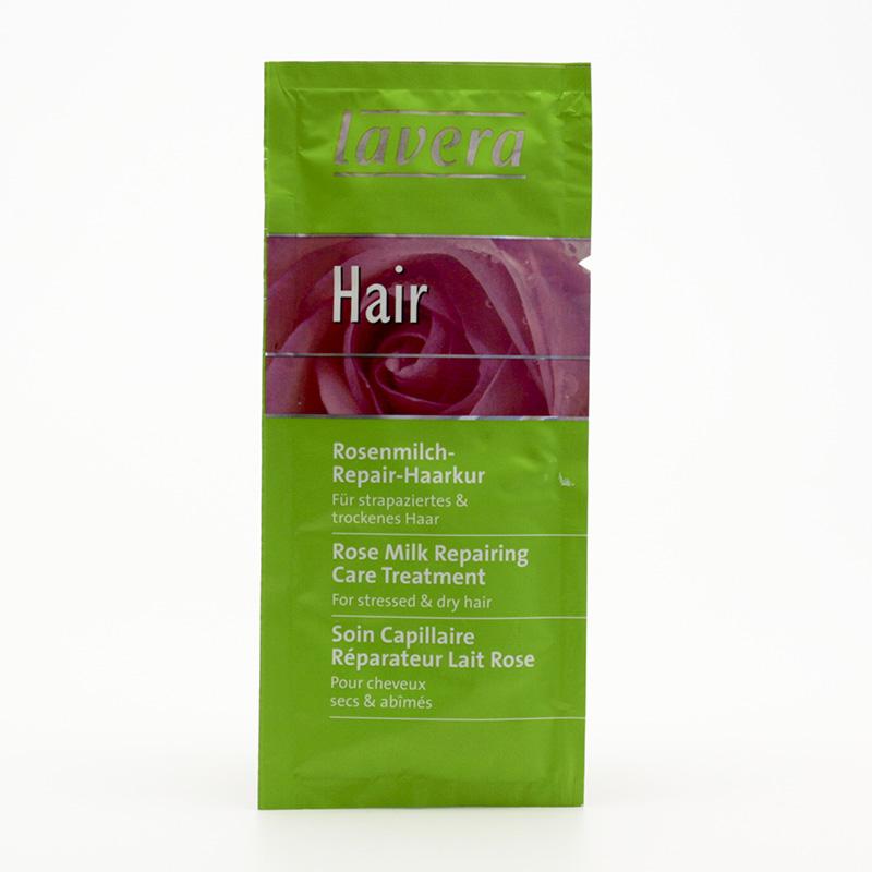 Lavera Vlasová kúra regenerační růžová, sachet, Hair 25 ml
