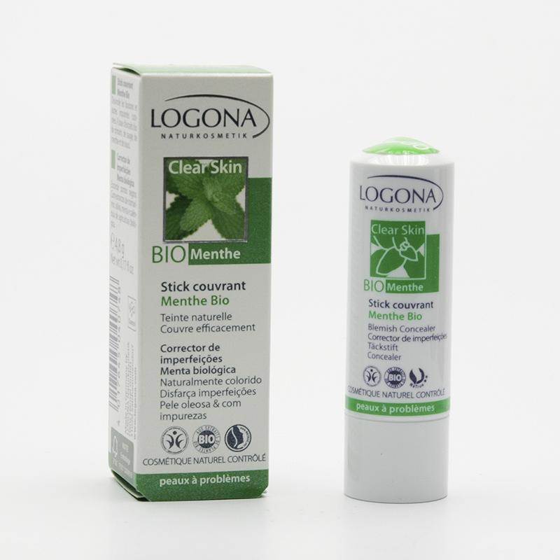 Logona Krycí tyčinka tónovací bio máta, Clear Skin 4,8 g