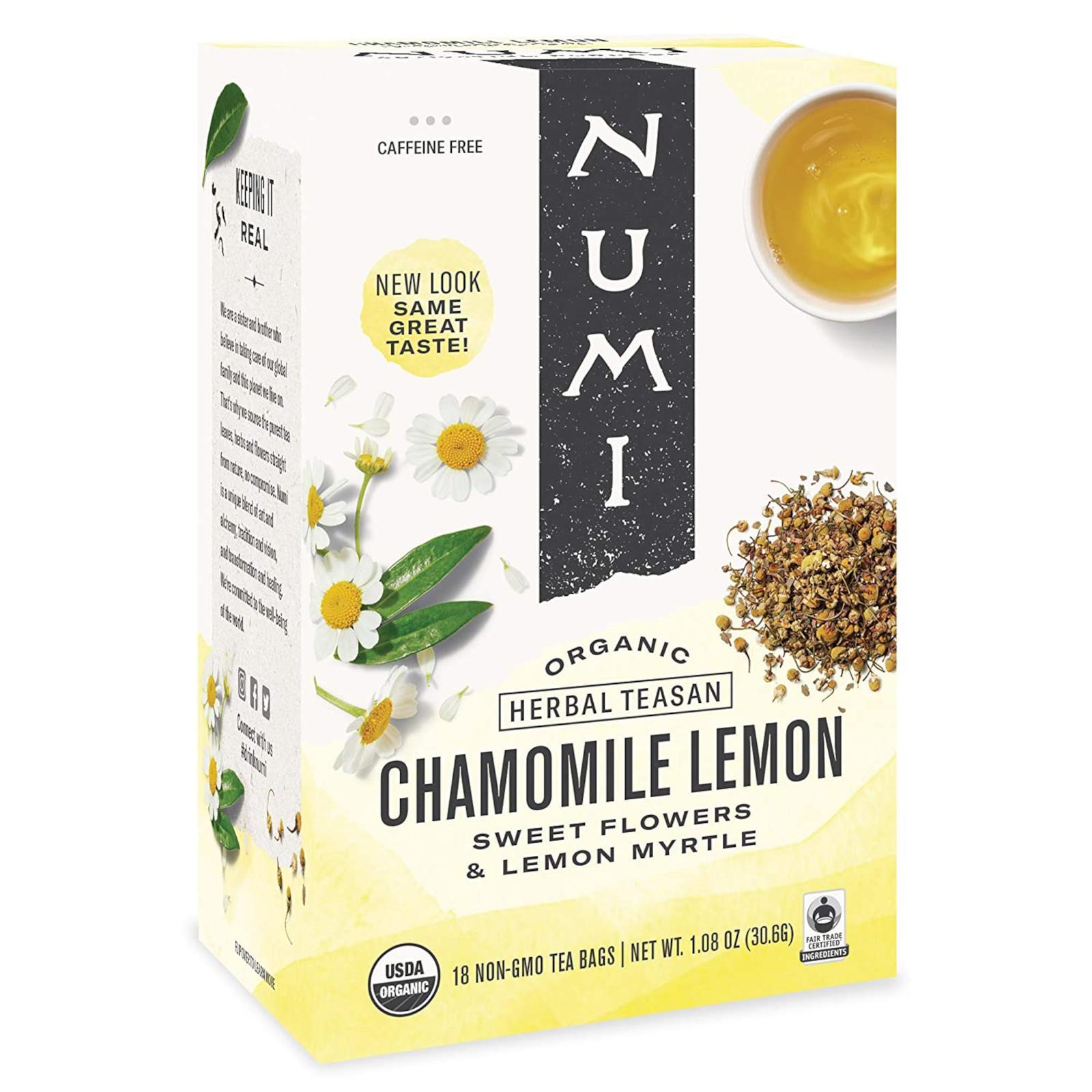 Numi Organic Tea Chamomile Lemon, bylinný čaj 30,6 g, 18 ks