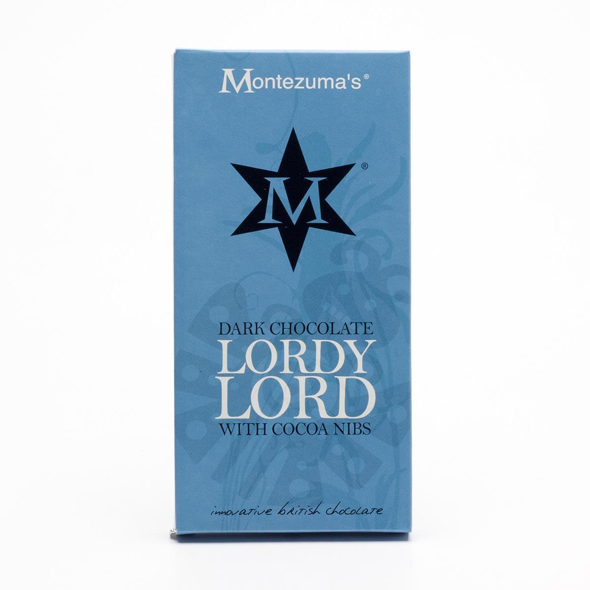 Montezumas Čokoláda tmavá s kakaovými zrnky Lordy Lord 100 g