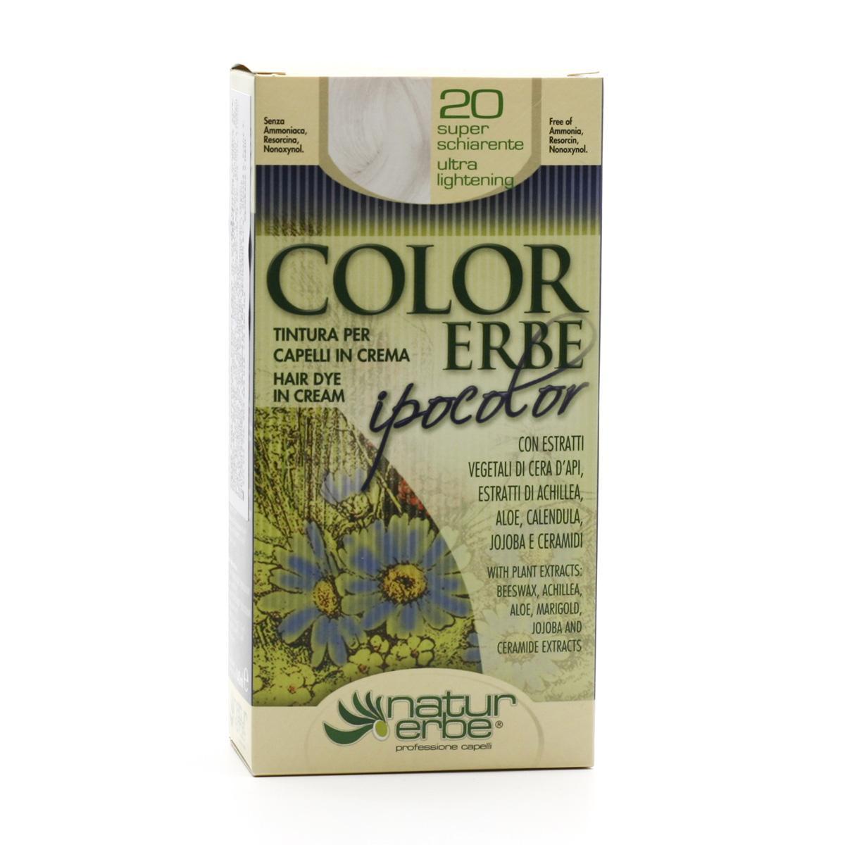 Color Erbe Barva na vlasy Zesvětlující 20, Ipocolor 140 ml