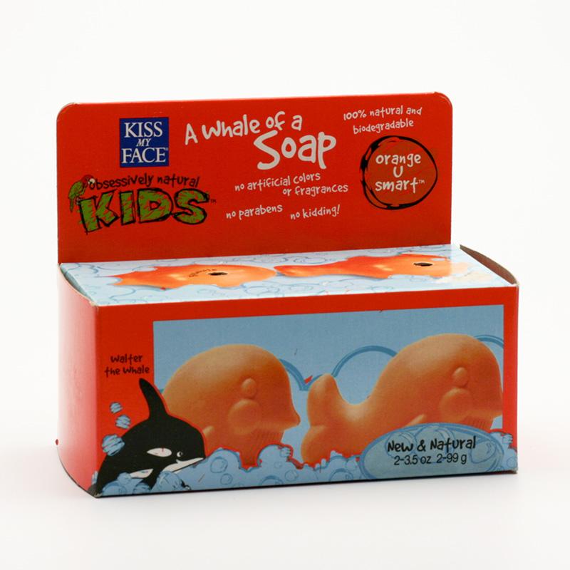 Kiss My Face Corp. Mýdlo tuhé dětské velryba, pomeranč 198 g