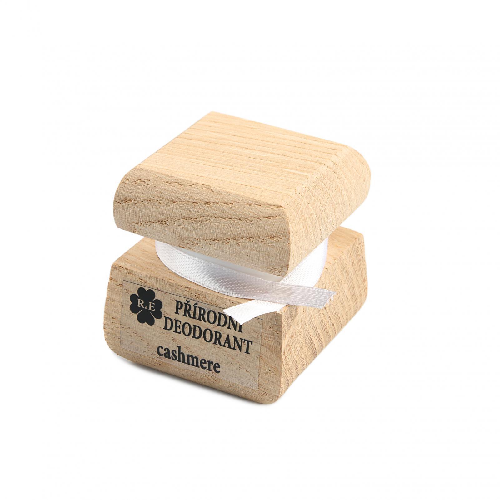 RaE Přírodní krémový deodorant s vůní kašmíru 15 ml dřevěný obal