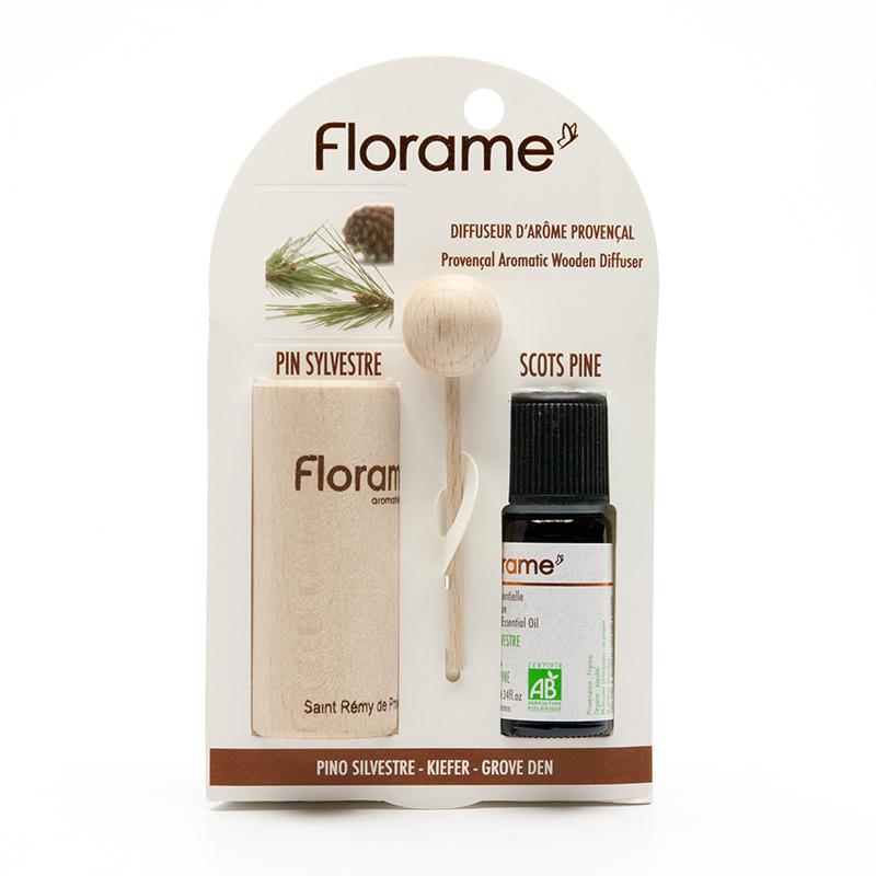 Florame Provensálský difuzér Borovice 10 ml olej, 1 ks difuzér