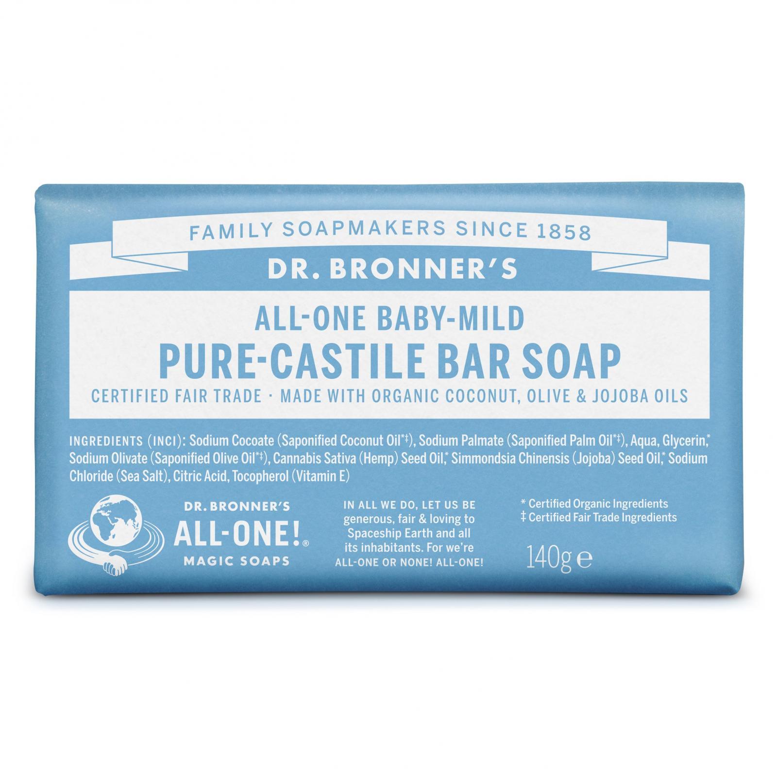 Dr. Bronner's Tuhé mýdlo Baby-Mild 140 g