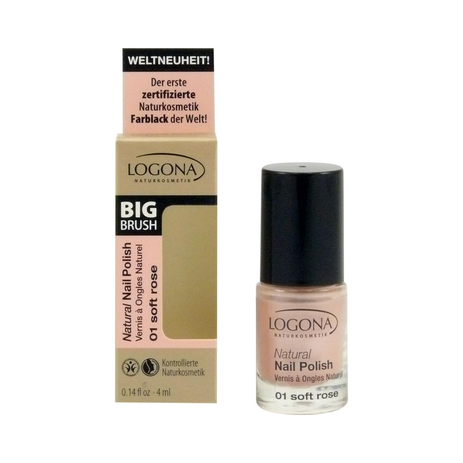 Logona Lak na nehty 01, soft rose 4 ml