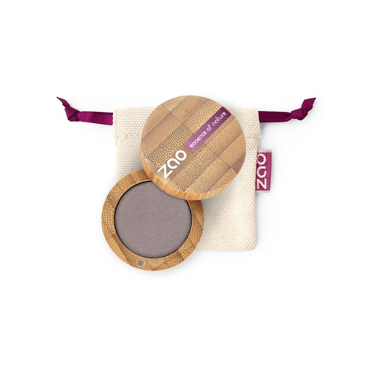 ZAO Třpytivé oční stíny 107 Pearly Brown Gray 3 g bambusový obal