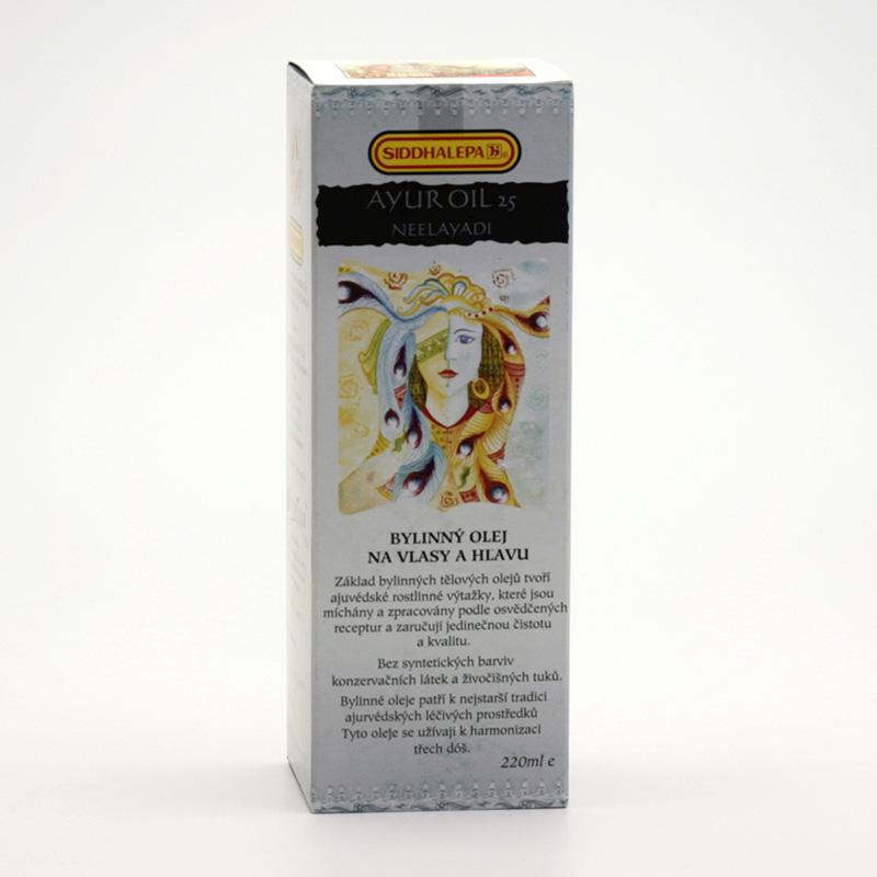 Siddhalepa Ayur bylinný vlasový olej č. 25 Neelayadi 220 ml