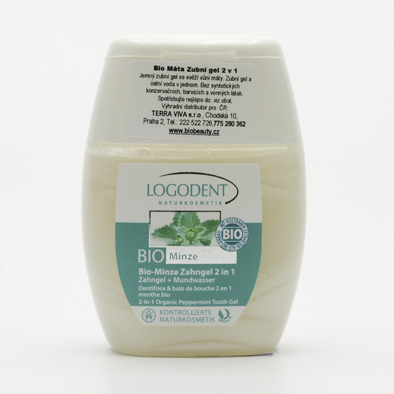 Logona Zubní gel a ústní voda 2v1 bio máta, Logodent - vyřazen 75 ml
