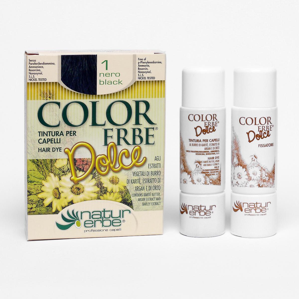 Color Erbe Barva na vlasy Černá 01, Dolce 135 ml