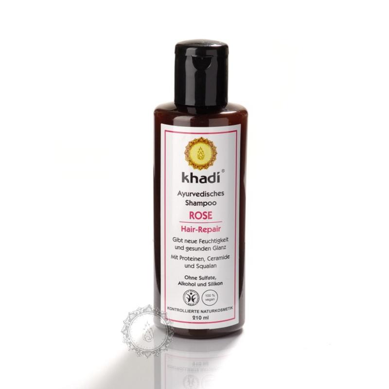 Khadí Šampon Růže reparační s kondicionerem 210 ml