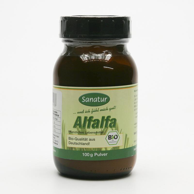 Sanatur Alfalfa bio, prášek 100 g