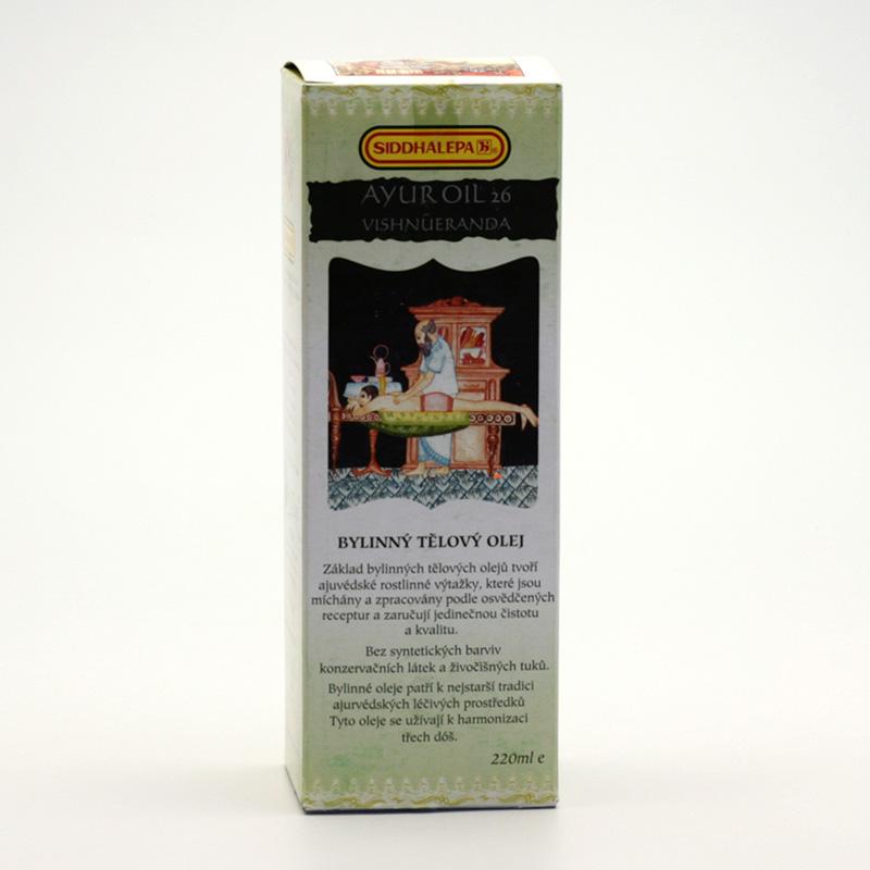 Siddhalepa Ayur bylinný tělový olej č. 26 Vishnueranda 220 ml