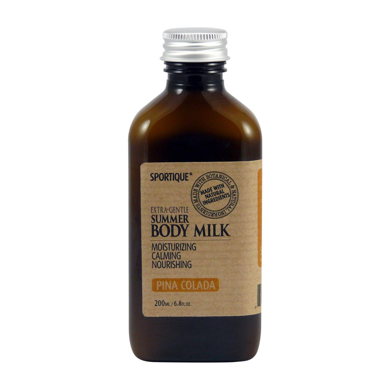Sportique Tělové mléko Piňa colada 200 ml