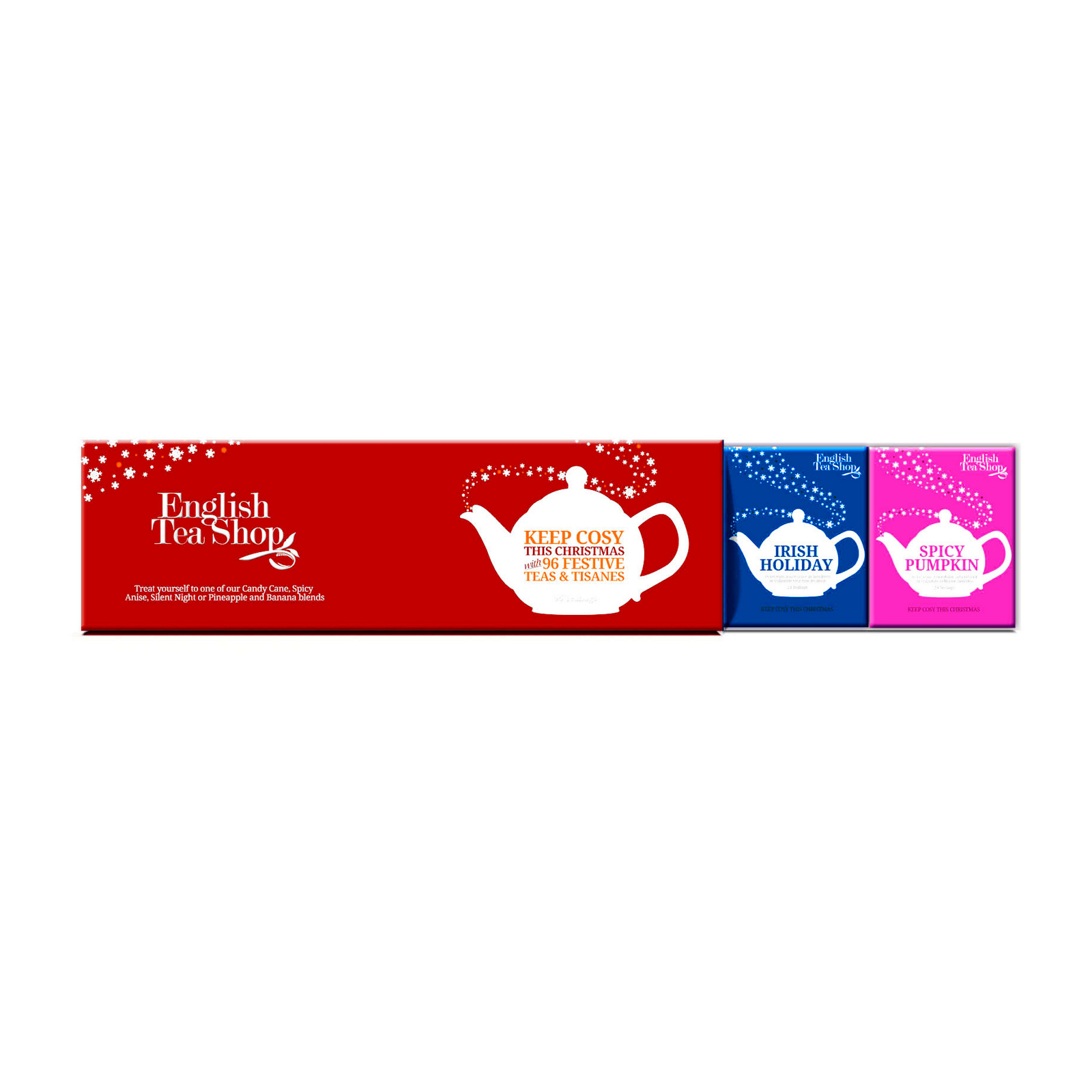 English Tea Shop Vánoční sada Fialové vánoce 2013 4 druhy, 60 ks