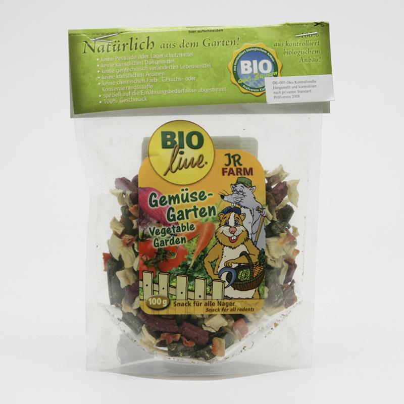 JR Farm Biopamlsky pro hlodavce, Vegetable Garden 100 g