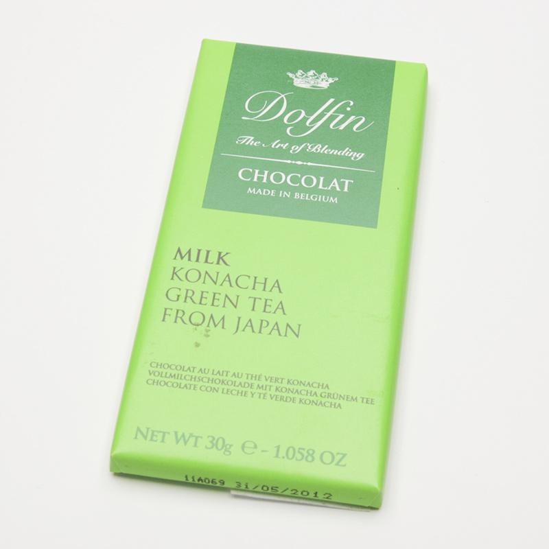 Dolfin Čokoláda mléčná se zeleným čajem Konacha 30 g