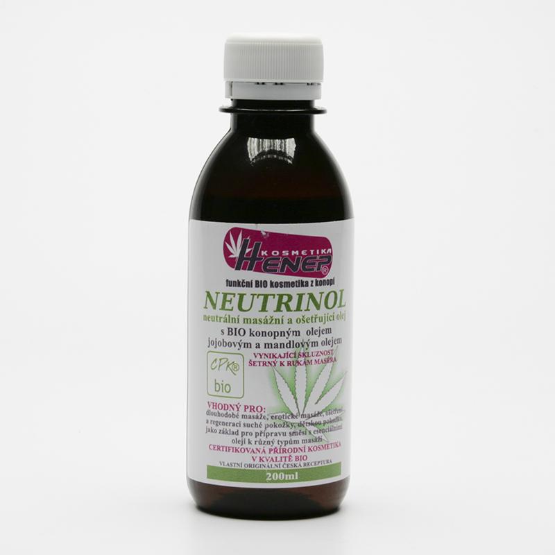 Henep Masážní olej neutrální Neutra oil 200 ml