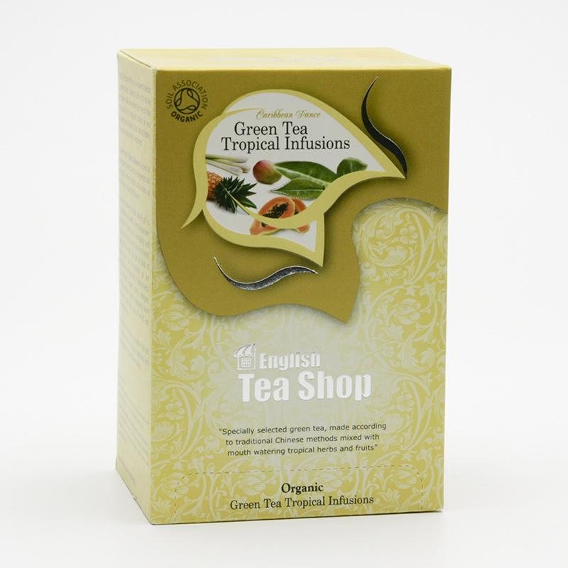 English Tea Shop x Zelený čaj s tropickým ovocem 20 ks, 30 g